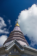 Chiang Mai; Doi Inthanon National Park; King and Queen Stupa; Naphaphonphumisiri; Stupa; Thailand, Dedicated to the Queen of Thailand.