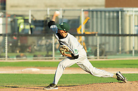 KELOWNA, BC - JULY 24: Tyler Frazier #29 of the Yakima Valley Pippins throws a pitch against the the Kelowna Falcons at Elks Stadium on July 24, 2019 in Kelowna, Canada. (Photo by Marissa Baecker/Shoot the Breeze)