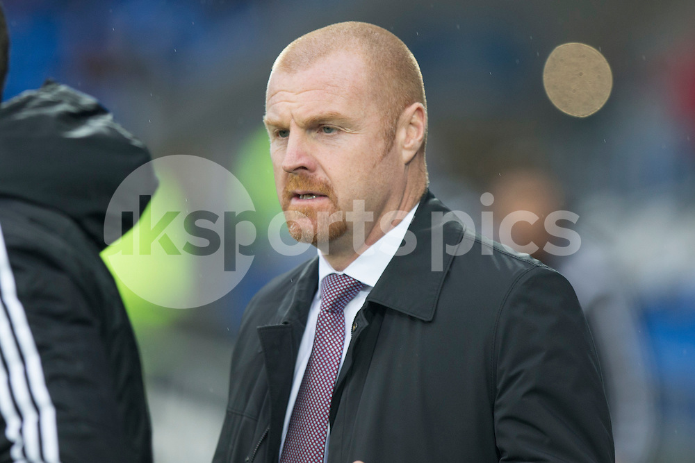 Burnley manager Sean Dyche during the Sky Bet Championship match between Cardiff City and Burnley at the Cardiff City Stadium, Cardiff, Wales on 28 November 2015. Photo by Mark Hawkins.