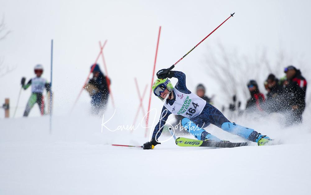 Piche Invitational Slalom 1st run U12 boys Sunday, March 17, 2013.  Karen Bobotas Photographer