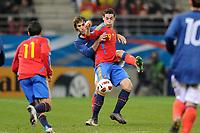 FOOTBALL - UNDER 21 - FRIENDLY GAME - FRANCE v SPAIN - 24/03/2011 - PHOTO GUILLAUME RAMON / DPPI -<br /> ALVARO VAZQUEZ (ESP)