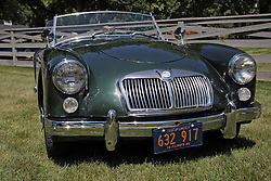 03 August 2013:  1960 MGB Convertible<br /> <br /> Displayed at the McLean County Antique Automobile Association Car show at David Davis Mansion in Bloomington Illinois