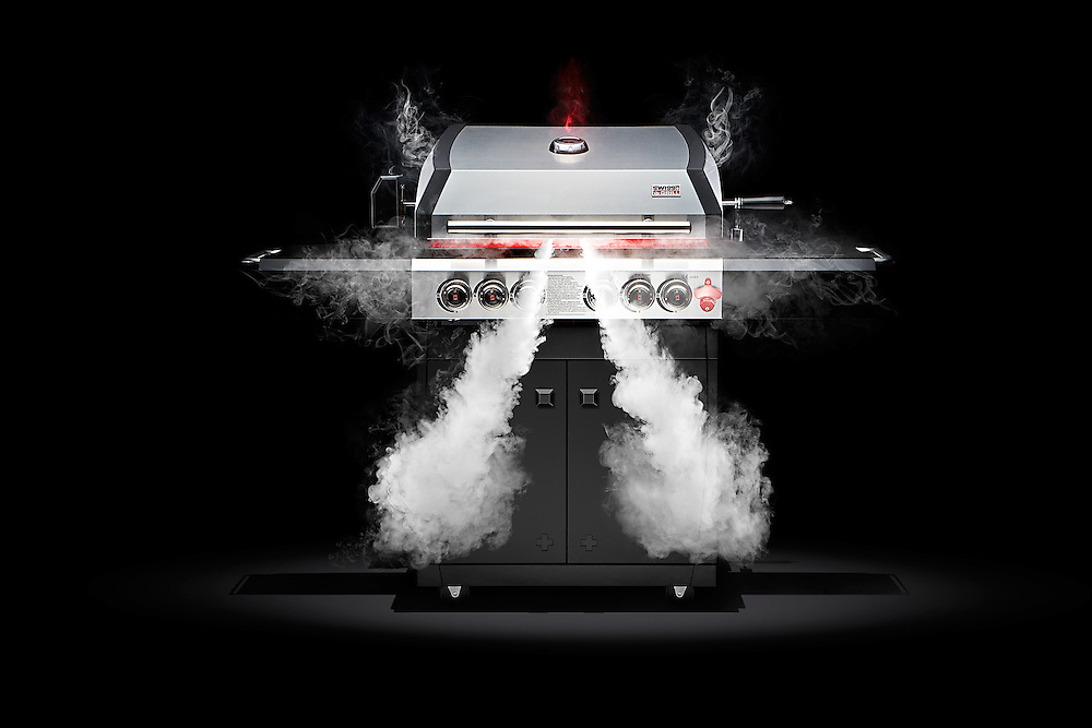 Series of images commissioned by Swiss Grill. The team was briefed by the Client to liven the iconic BBQ product by impression of a raging bull.