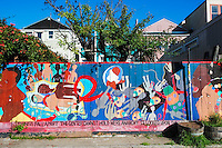 Balmy Alley Murals in Mission District, San Francisco, California