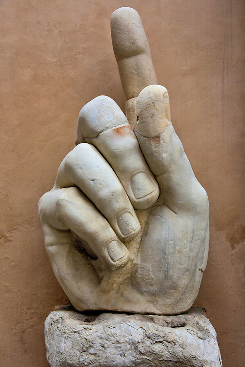 Colossus of Constantine Marble Hand at Capitoline Museums in Rome, Italy<br />