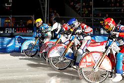 13.03.2016, Assen, BEL, FIM Eisspeedway Gladiators, Assen, im Bild Der Start von Guenther Bauer (GER) // during the Astana Expo FIM Ice Speedway Gladiators World Championship in Assen, Belgium on 2016/03/13. EXPA Pictures &copy; 2016, PhotoCredit: EXPA/ Eibner-Pressefoto/ Stiefel<br /> <br /> *****ATTENTION - OUT of GER*****