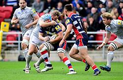 Ross Batty of Bath Rugby tackles Jordan Crane (c) of Bristol Rugby  - Mandatory by-line: Joe Meredith/JMP - 26/02/2017 - RUGBY - Ashton Gate - Bristol, England - Bristol Rugby v Bath Rugby - Aviva Premiership