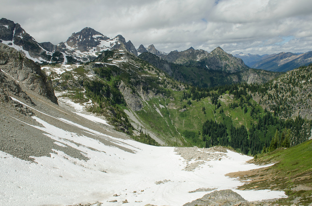 Black Peak seen from Maple Pass, North Cascades Washington