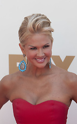 October 8, 2016 - Los Angeles, California, U.S - Nancy O'Dell is the married woman who rejected Donald Trump's advances, according to comments he made in a lewd conversation in 2005 that surfaced Friday October 7, 2016. FILE PHOTO: TV personality Nancy O'Dell at the 63rd Annual Primetime Emmy Awards held at Nokia Theatre L.A. LIVE on Sunday, September 18, 2011 in Los Angeles, California. (Credit Image: © Prensa Internacional via ZUMA Wire)
