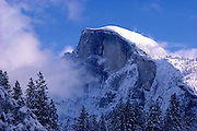 Half Dome after a winter storm, Yosemite National Park, California USA