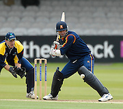 London, GREAT BRITAIN, John STEPHENSON, set himself  for a boundary, during the MCC vs Europe Match at Lords Cricket ground, England on Thur 07.06.2007  [Photo, Peter Spurrier/Intersport-images].....