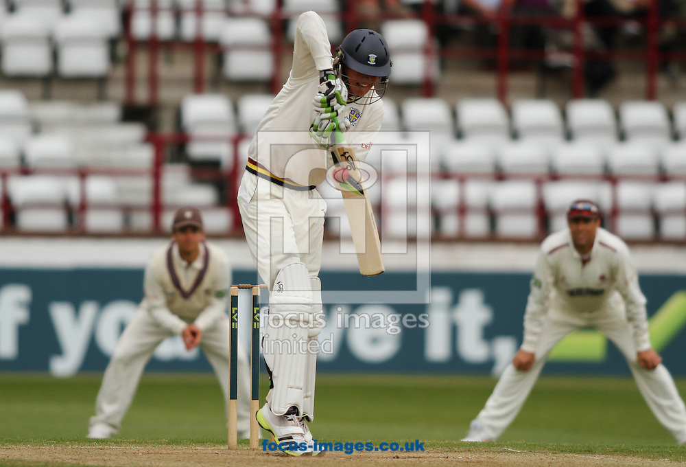 Picture by Tom Smith/Focus Images Ltd 07545141164<br /> 07/06/2013<br /> Keaton Jennings of Durham County Cricket Club batting during day two of the LV County Championship Div One match at the County Ground, Taunton, Taunton.