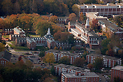 Aerial view of East Green. © Ohio University
