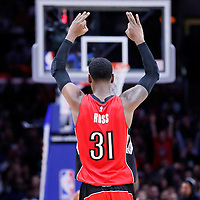 27 December 2014: Toronto Raptors forward Terrence Ross (31) celebrates during the Toronto Raptors 110-98 victory over the Los Angeles Clippers, at the Staples Center, Los Angeles, California, USA.