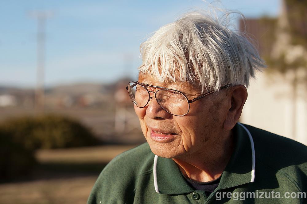 Jim Mizuta at his farm at 3910 Saddlehorn Ln, Vale, Oregon, February 15, 2015.