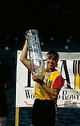 FISA World Cup 1990's, at Lucerne International Regatta, Lake Rotsee, Lucerne SWITZERLAND and Henley Royal Regatta.GER W1X. Titie JORDACHE-TARAN...FISA World cup events Lucerne and HRR Pictures from the first World Cup events, Men's and Women's singles 1990/91 FISA World Cup Lucerne and