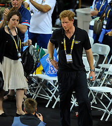 Prince Harry  - Photo mandatory by-line: Joe Meredith/JMP - Mobile: 07966 386802 - 12/09/2014 - The Invictus Games - Day 2 - Wheelchair Rugby - London - Copper Box Arena
