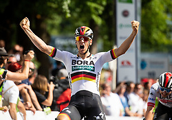 Pascal Ackermann (GER) of Bora - Hansgrohe celebrates after winning during 1st Stage of 26th Tour of Slovenia 2019 cycling race between Ljubljana and Rogaska Slatina (171 km), on June 19, 2019 in  Slovenia. Photo by Vid Ponikvar / Sportida
