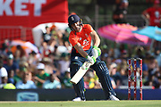 Jos Buttler (WK) ramp shot during the International T20 match between South Africa and England at Supersport Park, Centurion, South Africa on 16 February 2020.