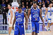DESCRIZIONE : Campionato 2014/15 Serie A Beko Dinamo Banco di Sardegna Sassari - Acqua Vitasnella Cantu'<br /> GIOCATORE : Darius Johnson-Odom Eric Williams<br /> CATEGORIA : Ritratto Delusione Coppia<br /> SQUADRA : Acqua Vitasnella Cantu'<br /> EVENTO : LegaBasket Serie A Beko 2014/2015<br /> GARA : Dinamo Banco di Sardegna Sassari - Acqua Vitasnella Cantu'<br /> DATA : 28/02/2015<br /> SPORT : Pallacanestro <br /> AUTORE : Agenzia Ciamillo-Castoria/L.Canu<br /> Galleria : LegaBasket Serie A Beko 2014/2015
