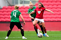 Charlie Wellings of Bristol City is challenged by Danique Kerkdijk of Brighton and Hove Albion Women - Mandatory by-line: Ryan Hiscott/JMP - 07/09/2019 - FOOTBALL - Ashton Gate - Bristol, England - Bristol City Women v Brighton and Hove Albion Women - FA Women's Super League