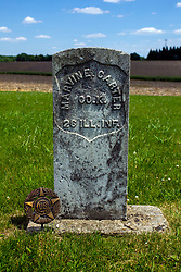 Hittle Grove Cemetery near Armington in Tazwell County.<br /> <br /> Marvin E Carter Co K 26 Ill INF