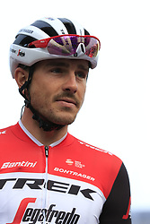 John Degenkolb (GER) Trek-Segafredo on stage at sign on before the 2019 Gent-Wevelgem in Flanders Fields running 252km from Deinze to Wevelgem, Belgium. 31st March 2019.<br /> Picture: Eoin Clarke | Cyclefile<br /> <br /> All photos usage must carry mandatory copyright credit (© Cyclefile | Eoin Clarke)
