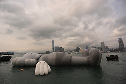 March 22, 2019 - Hong Kong, CHINA - After leaving it's mark in Seoul and Taipei, KAW'S HOLIDAY INSTALLATION is on display on the water of Hong Kong Victoria Harbour from today until 31st of this month for public view.Mar-22,2019 Hong Kong.ZUMA/Liau Chung-ren (Credit Image: © Liau Chung-ren/ZUMA Wire)