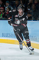 KELOWNA, CANADA -FEBRUARY 5: Haydn Fleury D #4 of the Red Deer Rebels skates with the puck behind the net against the Kelowna Rockets on February 5, 2014 at Prospera Place in Kelowna, British Columbia, Canada.   (Photo by Marissa Baecker/Getty Images)  *** Local Caption *** Haydn Fleury;