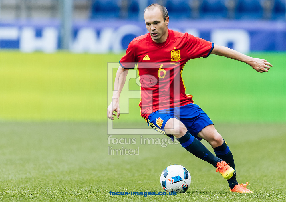 Andres Iniesta of Spain during the International Friendly match at Red Bull Arena, Salzburg<br /> Picture by EXPA Pictures/Focus Images Ltd 07814482222<br /> 01/06/2016<br /> ***UK &amp; IRELAND ONLY***<br /> (filename}