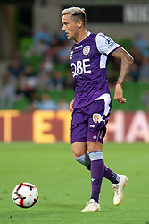 January 19, 2019 - Melbourne, VIC, U.S. - MELBOURNE, VIC - JANUARY 19: Perth Glory defender Jason Davidson (3) controls the ball at the Hyundai A-League Round 14 soccer match between Melbourne City FC and Perth Glory on January 19, 2019, at AAMI Park in VIC, Australia. (Photo by Speed Media/Icon Sportswire) (Credit Image: © Speed Media/Icon SMI via ZUMA Press)