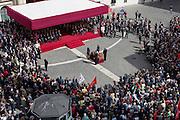 Funerali di Stato di Pietro Ingrao, storico esponente dell'ala sinistra del Partito Comunista Italiano, celebrato in Piazza Montecitorio. Roma 30 Settembre 2015.  Christian Mantuano / OneShot <br /> <br /> Funeral sate held for rite for Pietro Ingrao, the historical leader of the left wing of the Italian Communist Party, celebrated in Piazza Montecitorio. Rome 30 September 2015. Christian Mantuano / OneShot