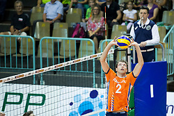 Wessel Keemink of The Netherlands during volleyball match between national teams of Slovenia and Netherlands of 2018 CEV volleyball Godlen European League, on June 6, 2018 in Arena Bonifika, Koper, Slovenia. Photo by Urban Urbanc / Sportida