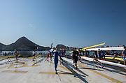 Rio de Janeiro. BRAZIL.   2016 Olympic Rowing Regatta. Lagoa Stadium,<br /> Copacabana,  &ldquo;Olympic Summer Games&rdquo;<br /> Rodrigo de Freitas Lagoon, Lagoa. Local Time 15:09:13   Friday  05/08/2016 <br /> <br /> [Mandatory Credit; Peter SPURRIER/Intersport Images]