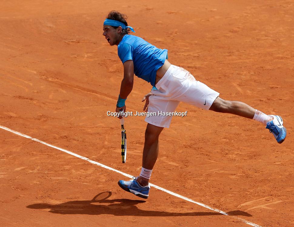 French Open 2011, Roland Garros,Paris,ITF Grand Slam Tennis Tournament . Rafael Nadal (ESP),.Einzelbild, Aktion,