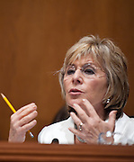 """Aug 4, 2010 - Washington, District of Columbia, U.S., - Senator BARARA BOXER (D-CA) quesitons witnesses during an Environment and Public Works Committee hearing on """"Oversight Hearing on the Use of Oil Dispersants in the Deepwater Horizon Oil Spill."""".(Credit Image: © Pete Marovich/ZUMA Press)"""