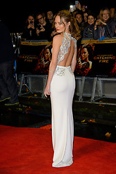 Laura Haddock at The World Premiere of 'The Hunger Games: Catching Fire'. Leicester Square, London, United Kingdom. Monday, 11th November 2013. Picture by Chris Joseph / i-Images