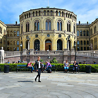 Storting Parliament Building in Oslo, Norway<br />