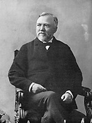 Andrew Carnegie  (1835-1918) Scottish-American industrialist and philanthropist. Public Libraries. After a photograph by Brady taken in the 1870s.
