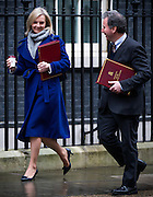 UNITED KINGDOM, London: 1 March 2016. Secretary of State for Environment, Food and Rural Affairs Liz Truss and Chancellor of the Duchy of Lancaster Oliver Letwin arrives in Downing Street to attend Cabinet meeting in central London.  Pic by Andrew Cowie / Story Picture Agency