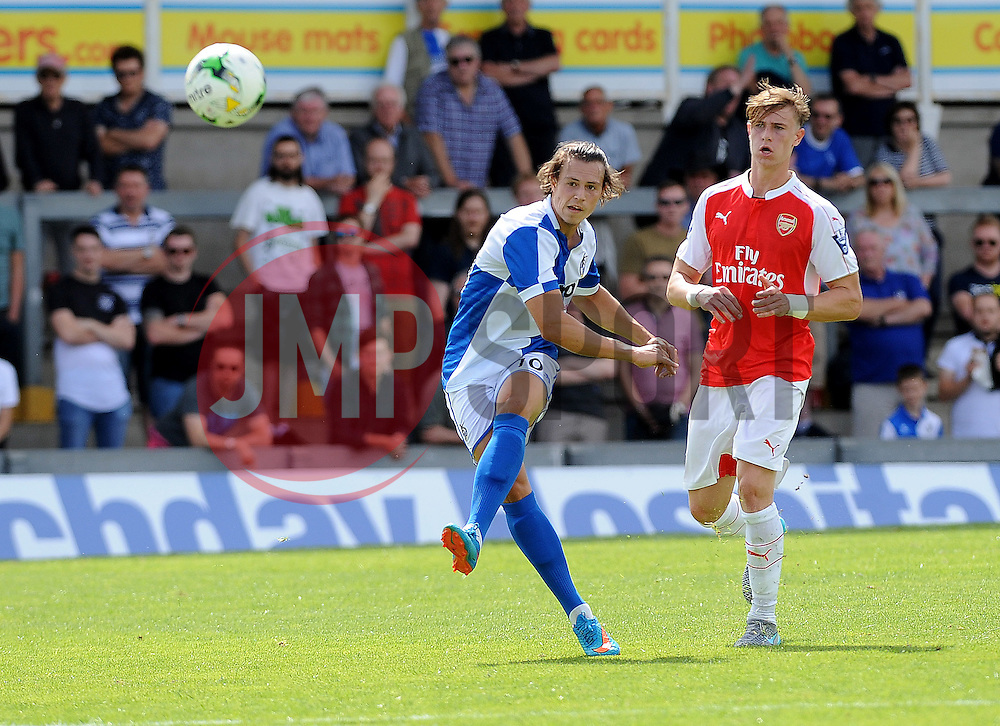Billy Bodin of Bristol Rovers gets a shot away - Photo mandatory by-line: Neil Brookman/JMP - Mobile: 07966 386802 - 18/07/2015 - SPORT - Football - Bristol - Memorial Stadium - Pre-Season Friendly