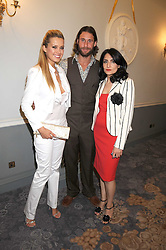 PETRA NEMCOVA, DAVID DE ROTHSCHILD and RENU MEHTA at a dinner hosted by the Fortune Forum at The Dorchester, Park Lane, London W1 on 2nd July 2008.<br /><br />NON EXCLUSIVE - WORLD RIGHTS