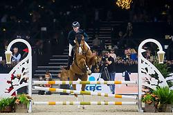 Boyen Vlada, BEL, Izeli Van Het Wilderhof<br /> Jumping Mechelen 2019<br /> © Hippo Foto - Sharon Vandeput<br /> 26/12/19