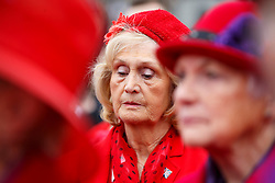 © Licensed to London News Pictures. 11/11/2015. London, UK. Members of the public observing a two minutes silence in Trafalgar Square during Silence in the Square event as part of Armistice Day on Wednesday, 11 November 2015. Photo credit: Tolga Akmen/LNP