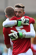 Picture by David Horn/Focus Images Ltd +44 7545 970036.03/11/2012.Michael Morrison and Ben Hamer of Charlton Athletic before the npower Championship match at The Valley, London.