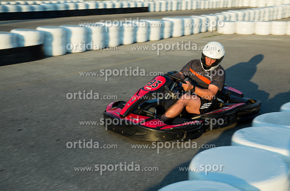 Goran Janus during Karting competition of Slovenian Ski jumping Men and Women Teams,  on June 5, 2015 in Pro Karting centre, Ljubljana, Slovenia. Photo by Vid Ponikvar / Sportida