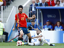 July 1, 2018 - Moscow, Russia - Round of 16 Russia v Spain - FIFA World Cup Russia 2018.Isco (Spain) at Luzhniki Stadium in Moscow, Russia on July 1, 2018. (Credit Image: © Matteo Ciambelli/NurPhoto via ZUMA Press)
