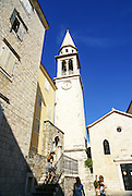 Budva, Montenegro The old town, St. Ivan (Saint John) church