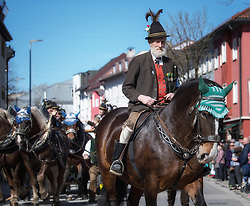 02.04.2018, Traunstein, GER, Georgi Ritt Traunstein 2018, im Bild Gebirgsschützen // during the traditionell Georgi Ritt on Easter Monday in. in Traunstein, Germany on 2018/04/02. EXPA Pictures © 2018, PhotoCredit: EXPA/ Erst Wukits