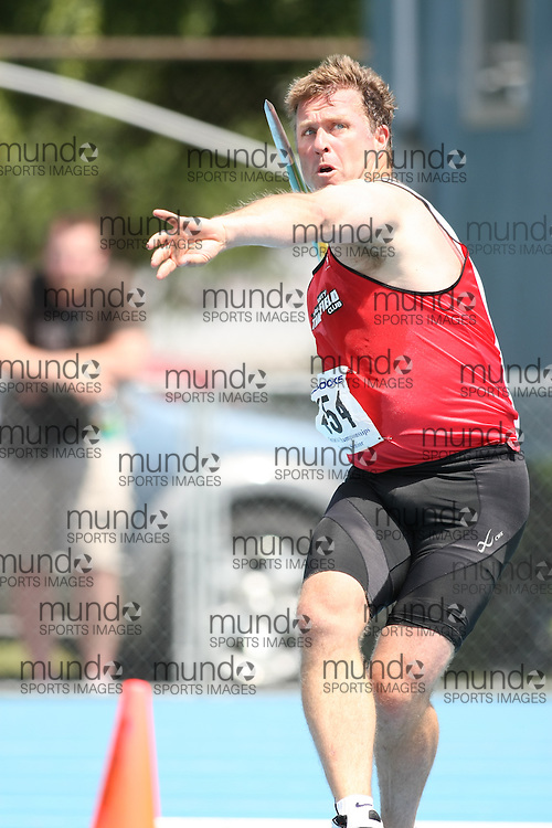 (Ottawa, Ontario---20080621) \m\ competing in the senior men's javelin at Supermeet I, the 2008 Ontario Track and Field Association (OTFA) Junior/Senior Track and Field Championships. This image is copyright Sean W. Burges, and the photographer can be contacted at seanburges@yahoo.com.